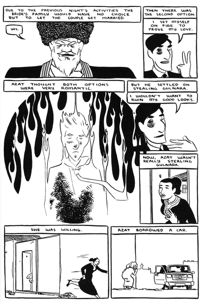 """Jesse Lonergan"" ""Joe and Azat"" ""Peace Corp"" ""Comic book"